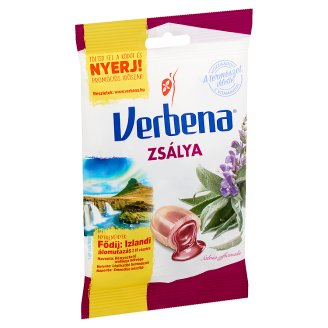 Verbena Sage Flavoured Sweets with Honey and Vitamin C 60 g