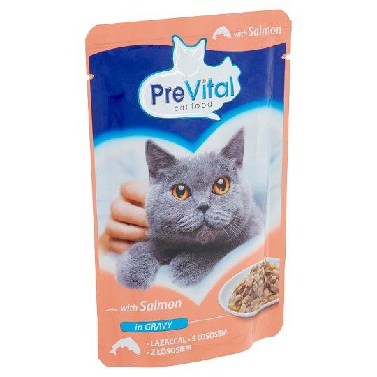 PreVital teljes értékű állateledel felnőtt macskák számára lazaccal 100 g