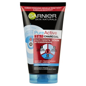 Garnier Skin Naturals Pure Active 3 in 1 Mask, Peeling and Gel with Active Coal 150 ml