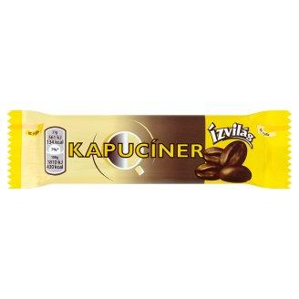 Ízvilág Kapucíner Dark Chocolate Covered Bar with Coffee and Cream Flavored Filling 31 g