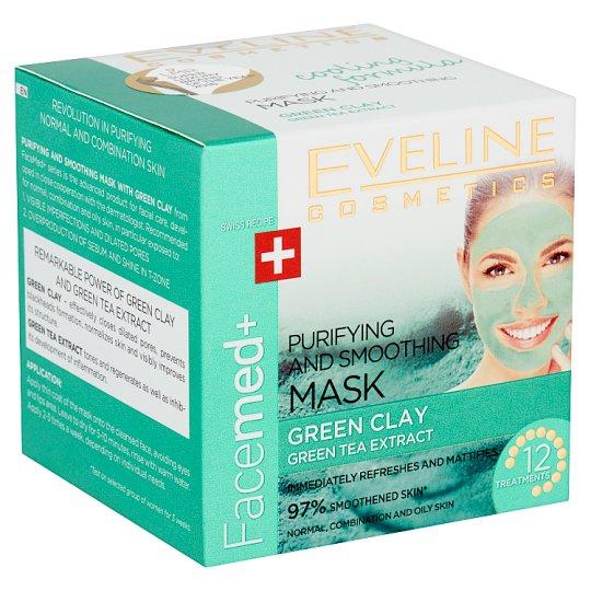 Eveline Cosmetics Facemed+ tisztító és bőrkisimító arcmaszk 50 ml
