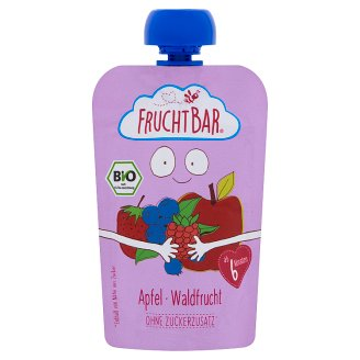 FruchtBar Organic Apple-Forest Fruit Baby Dessert without Added Sugar 6+Months 100 g