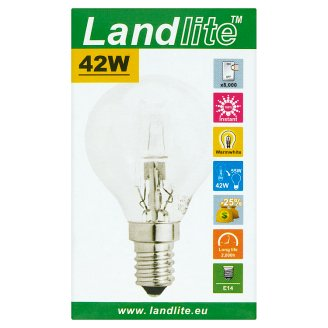 Landlite 630 lm 42 W E14 energiatakarékos halogén izzó