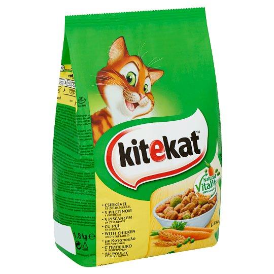 Kitekat teljes értékű állateledel felnőtt macskák számára csirkével és zöldségekkel 1,8 kg
