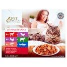 Tesco Pet Specialist teljes értékű állateledel felnőtt macskák számára falatok szószban 12 x 100 g
