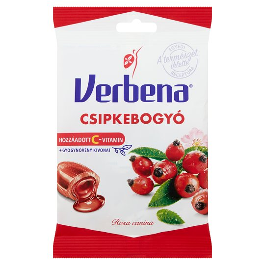 Verbena Rosehip Flavoured Sweets with Vitamin C 60 g