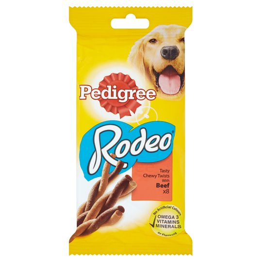Pedigree Rodeo Complementary Pet Food for Adult Dogs with Beef 140 g