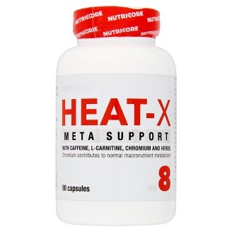 Nutricore Heat-X Capsules with Caffeine, L-Carnitine, Chromium and Herbs 90 pcs 69 g