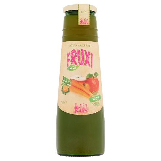 Fruxi Fresh Apple and Carrot Cold Pressed 100% Fruit Juice and Vegetable Juice 750 ml