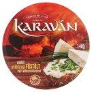 Karaván füstölt ízű, kenhető, zsíros, ömlesztett sajt 8 db 140 g