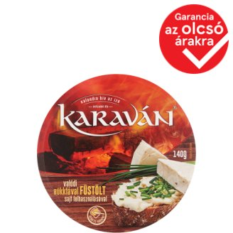 Karaván Smoked Flavoured, Spreadable, Fat, Processed Cheese 8 pcs 140 g
