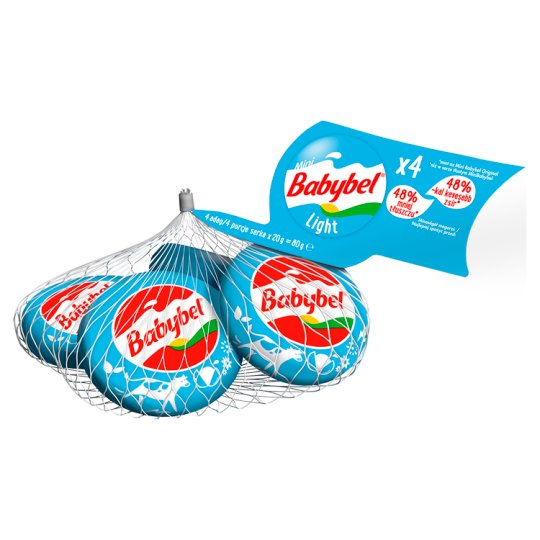 Mini Babybel Light félzsíros félkemény sajt 4 db 80 g