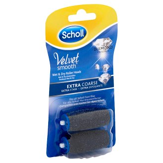Scholl Velvet Smooth Extra Coarse Roller Heads with Diamond Crystals 2 pcs