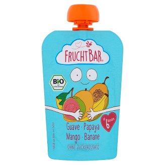 FruchtBar Organic Guava-Papaya-Mango-Banana Baby Dessert without Added Sugar 6+Months 100 g