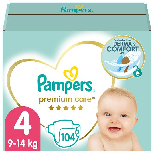 Pampers Premium Care Pelenka, 4 x Méret, 104 db, 9kg-14kg