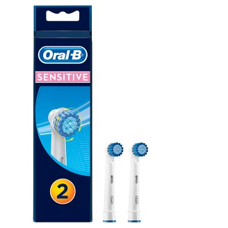 oral b sensitive clean replacement electric toothbrush heads x2 tesco groceries. Black Bedroom Furniture Sets. Home Design Ideas