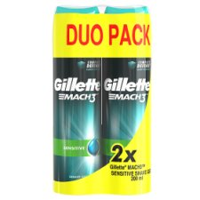 Gillette Mach3 Complete Defense Sensitive Men's Shaving Gel 2x200ml