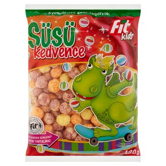 Fit Kids Süsü Kedvence Gluten-Free, Extruded, Fruit Flavoured Cereal Balls 120 g