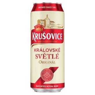 Krušovice Světlé eredeti cseh import világos sör 4,2% 0,5 l