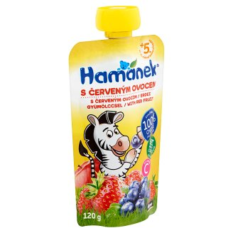 Hamánek Baby Food with Red Fruit 5+ Months 120 g