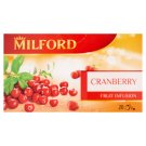 Milford vörös áfonya aromásított gyümölcstea 20 filter 46 g