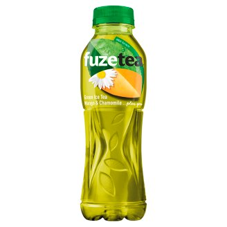 FUZETEA Non-Carbonated Mango and Chamomile Flavoured Soft Drink with Sugar and Sweeteners 500 ml