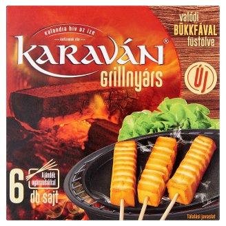 Karaván Grillnyárs bükkfával füstölt, zsíros, kemény sajt 6 db 210 g