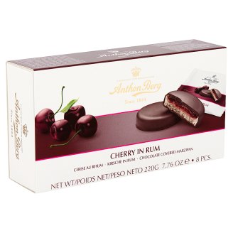 Anthon Berg Chocolate with Marzipan and Filling with Cherry in Rum 8 pcs 220 g