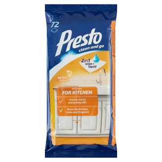 Presto Wet Wipes for Kitchen 72 pcs
