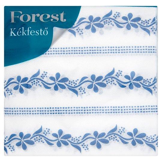 Forest Kékfestő mintás szalvéta 1 rétegű 33 x 33 cm 45 db