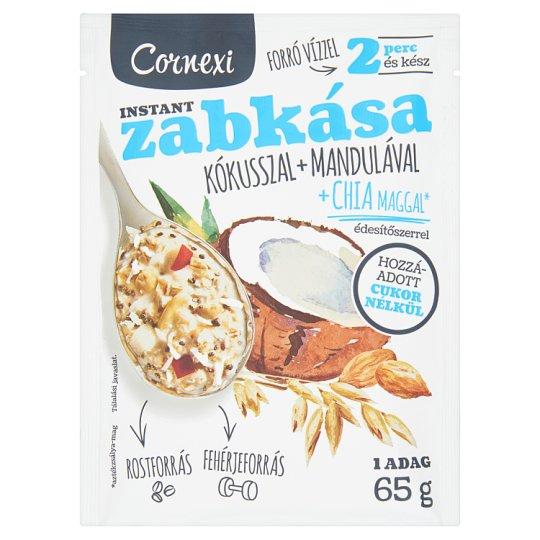 Cornexi kókuszos-mandulás zabkása chia maggal, hozzáadott cukor nélküli 65 g