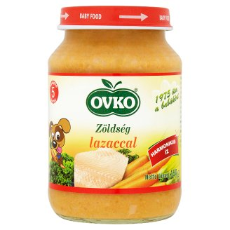 Ovko Gluten-Free Vegetables with Salmon Baby Food 5+ Months 190 g
