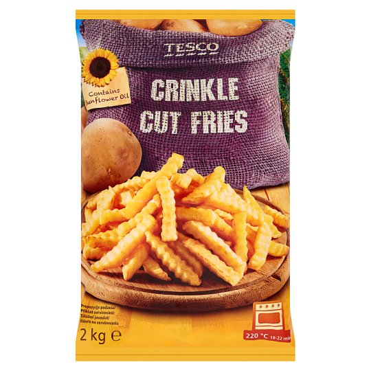 Tesco Quick-Frozen, Pre-Baked Crinkle Cut Fries 2 kg