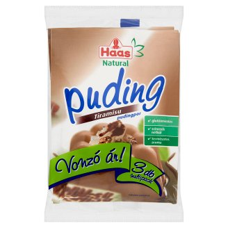Haas Natural Gluten-Free Tiramisu Pudding Powder 3 x 40 g