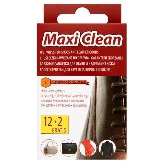 Maxi Clean Wet Wipes for Footwear and Leather Goods 14 pcs