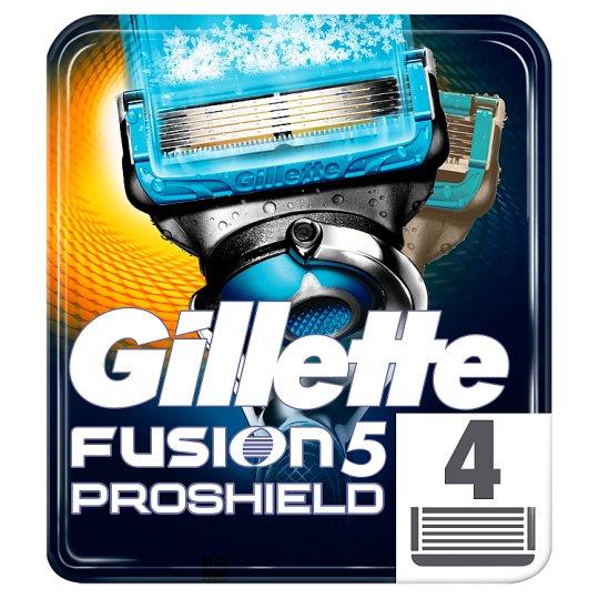 Gillette Fusion5 ProShield Chill Razor Blades For Men, 4 Refills