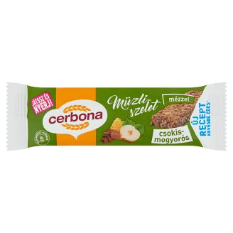 Cerbona Chocolate-Hazelnut Cereal Bar in Cocoa Coating 20 g