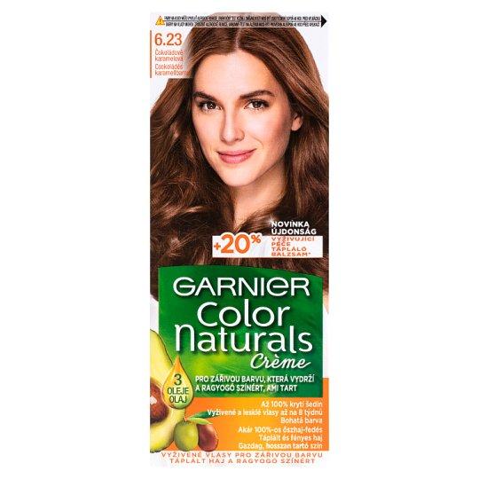 image 1 of Garnier Color Naturals Crème 6.23 Chocolate Caramel Brown Nourishing Permanent Hair Colorant