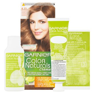 image 2 of Garnier Color Naturals Crème 6.23 Chocolate Caramel Brown Nourishing Permanent Hair Colorant