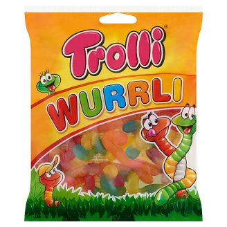 Trolli Wurrli Neon Worm Shaped Fruit Flavoured Gums 100 g
