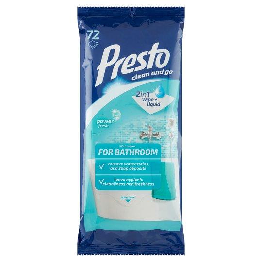 Presto Wet Wipes for Bathroom 72 pcs