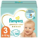Pampers Premium Care Size 3, Nappy x120, 6kg-10kg