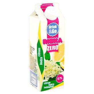 Riska Drink & Go Zero citrom-bodza élőflórás, laktózmentes sovány ivójoghurt 450 g