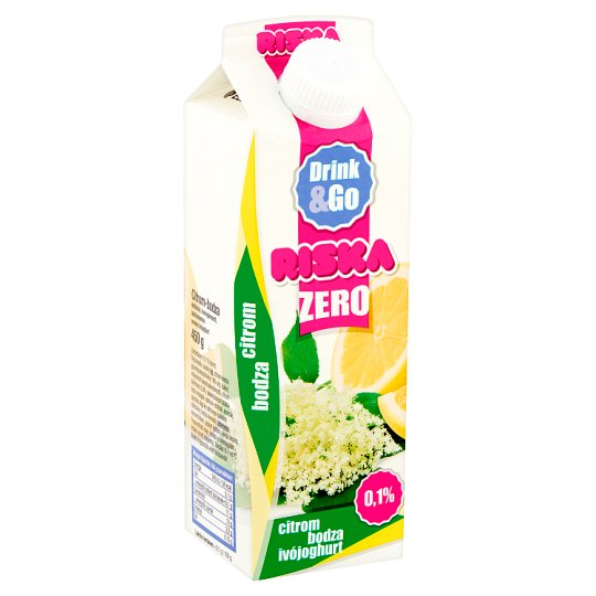 Riska Drink & Go Zero Lemon-Elder Lactose-Free Low-Fat Yogurt Drink with Live Culture 450 g