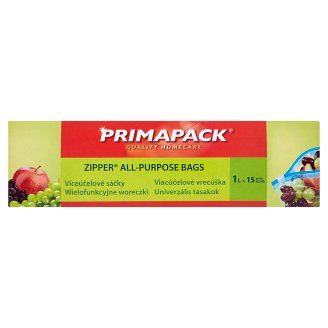 Primapack Zipper All-Purpose Bags 1 l 15 pcs