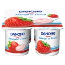 Danone Strawberry Flavoured Low-Fat Yoghurt with Live Cultures 4 x 125 g