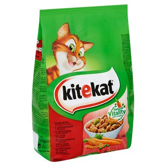 Kitekat Complete Pet Food for Adult Cats with Beef and Vegetables 1,8 kg