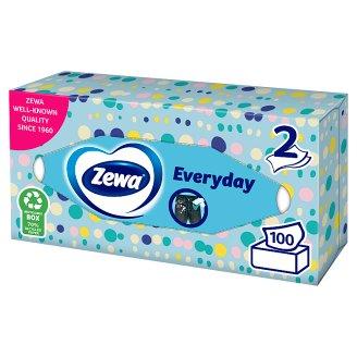 Zewa Everyday illatmentes dobozos papír zsebkendő 2 rétegű 100 db