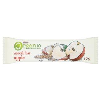 Tesco Organic Muesli Bar with Apple Pieces 30 g