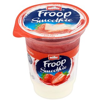 Müller Froop Smoothie Dessert from Yoghurt with Live Cultures and Stratified Strawberry Sauce 150 g